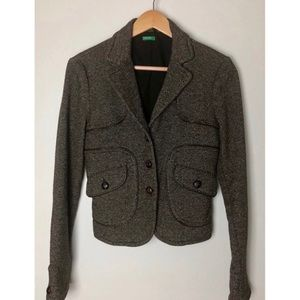 Benetton Blazer. Made in Italy. Brown. Size 10